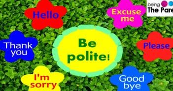 Raising a polite child