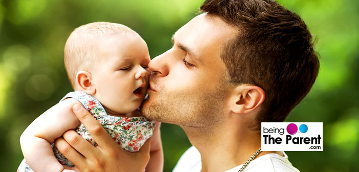 Loving dad and baby