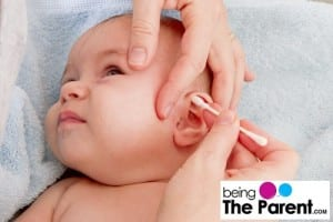 Cleaning baby's ears