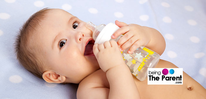 Feeding water to infant