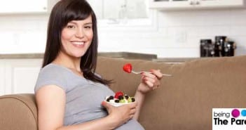 Pregnant Woman Snacking