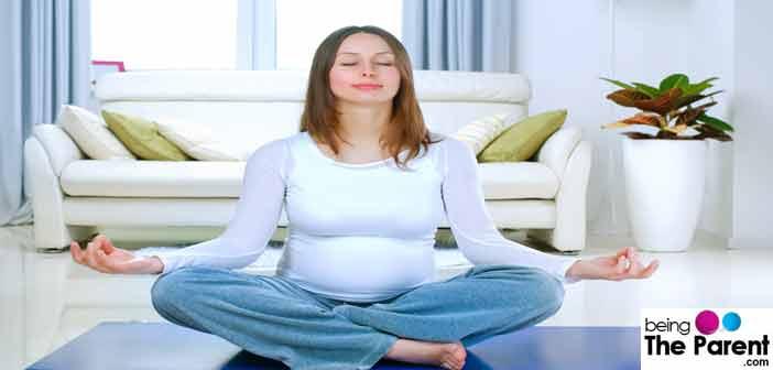 Calm Pregnant Woman