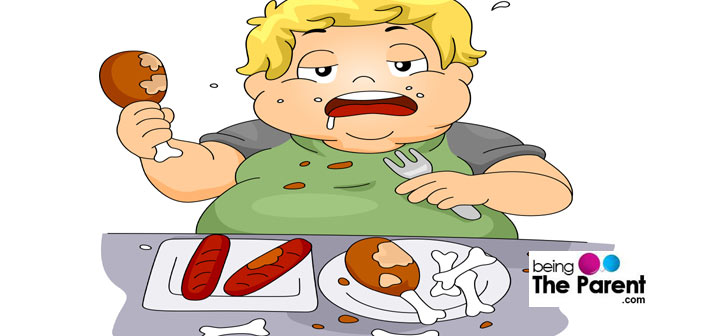 Binge eating disorder in children being the parent
