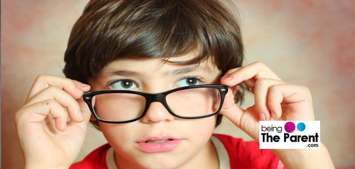 Child with spectacles