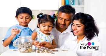 Parents teach savings to kids