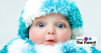 Baby in winters