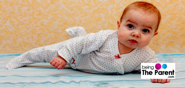 Baby on tummy time