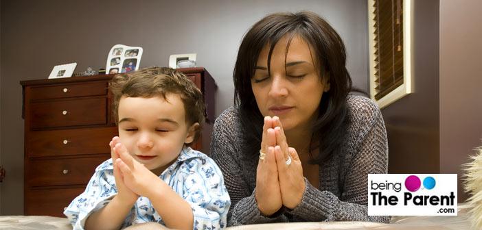 Bedtime ritual praying