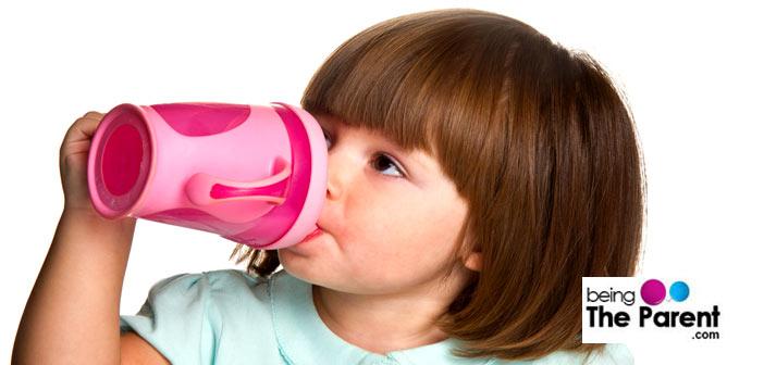 Girl drinking milk