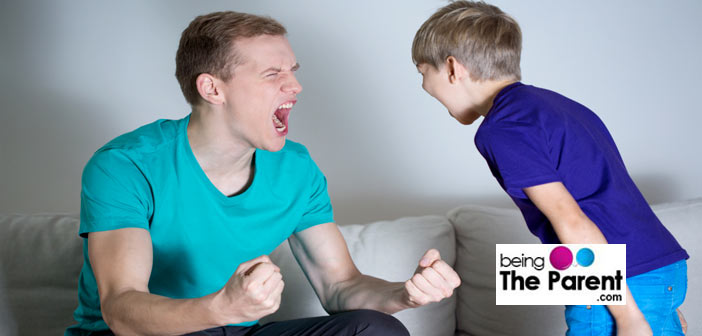 Boy Arguing with father