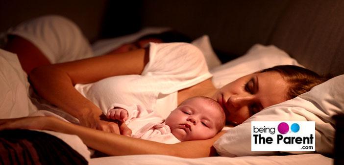 Co-sleeping with baby