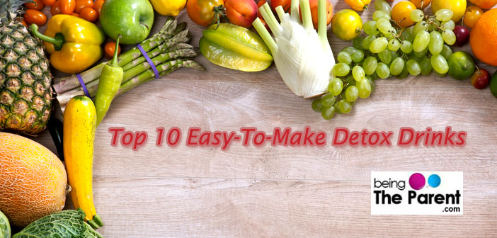 Top 10 Easy To Make Detox Drinks
