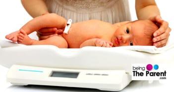 newborn baby weighed
