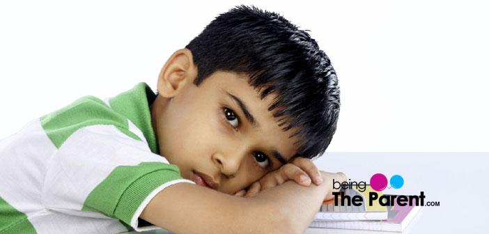 Sad, depressed child