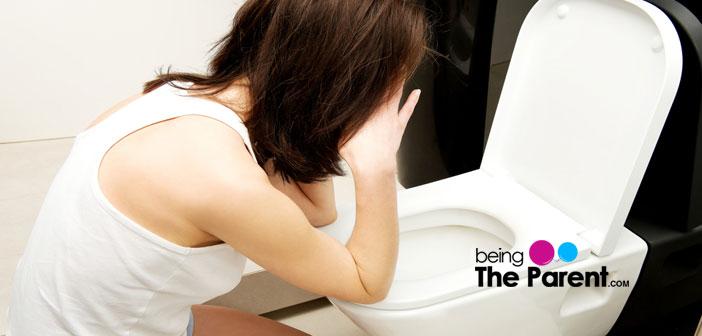 Woman nausea