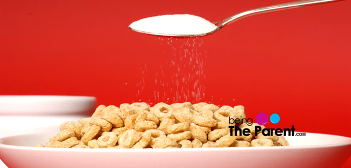 Adding sugar to cereal