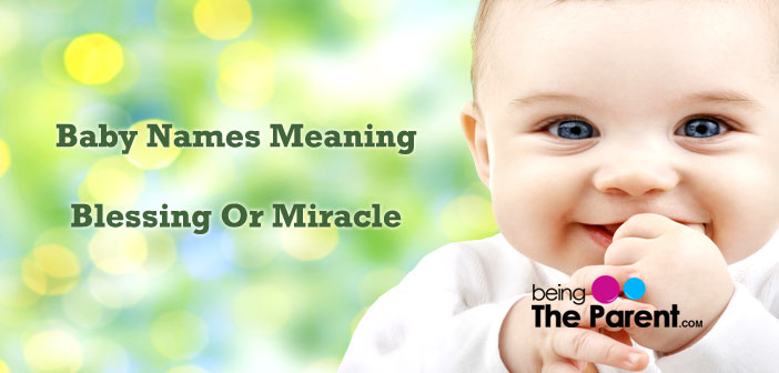 Baby names meaning blessing