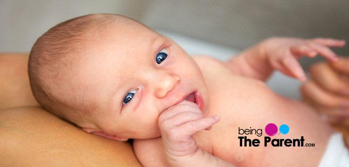 Crossed eye newborn