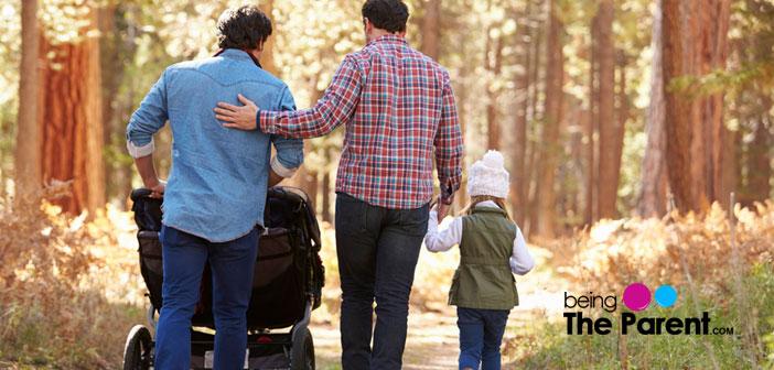 Dads taking a walk