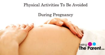 activities to be avoided