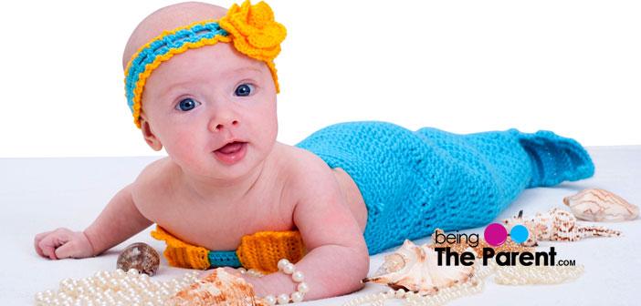baby dressed as mermaid