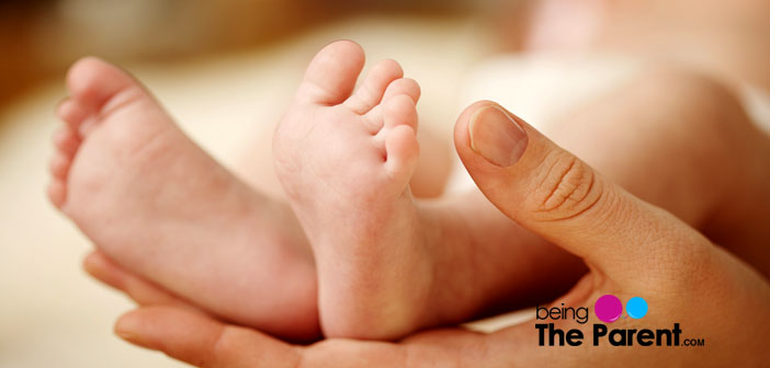 Caring for baby feet
