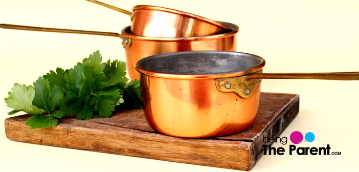 Copper cooking vessels
