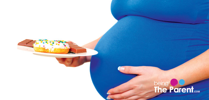 Pregnant woman craving sweets