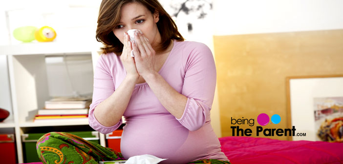 Pregnant woman cold