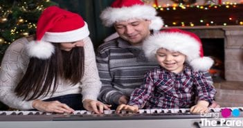 parents and toddler christm