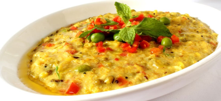 plain vegetable khichdi