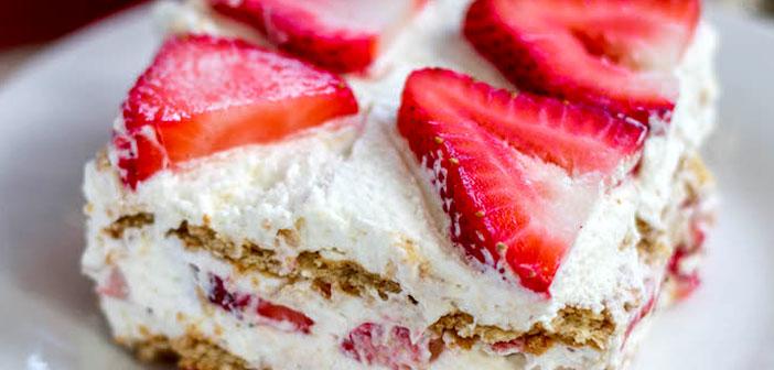 Angel strawberry cake