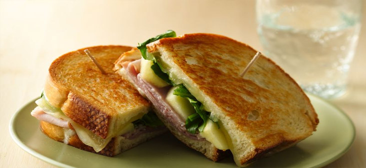 apple cheese and ham