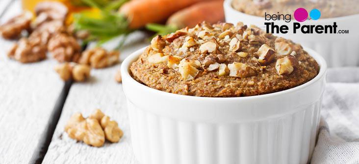 carrot walnut cupcake