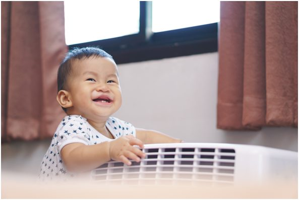Is using an air conditioner (AC) safe with a new-born?